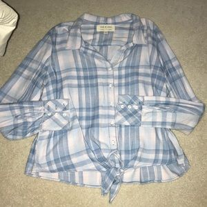 cloth & stone flannel blouse